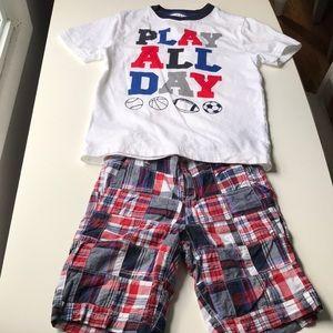 Gymboree shorts and t-shirt